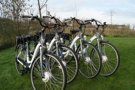 E-bikes op een rij