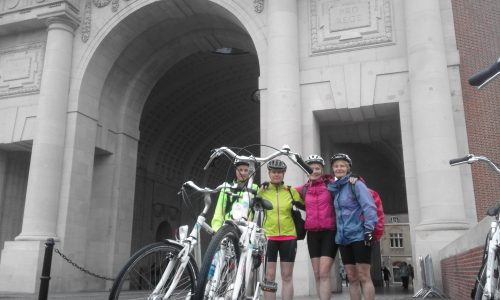 Facing the Menin Gate Memorial