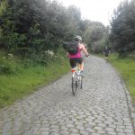 The Old Kwaremont cobble stone climbing