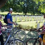 On tour in Flanders Fields with American couple...