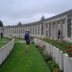 Solemn walk on Tyne Cot Cemetery