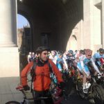 Under the Menin Gate in morning, facing the cyclists and then later again on the Hills of Flanders!